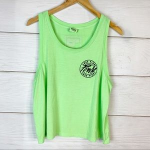 PINK Green Neon Graphic Tee Size Large